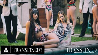 ADULT TIME Transfixed with Venus Lux & MILF Cherie DeVille Erotic Sex