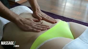 Perfect Cameltoe while sensual Massage - Close up
