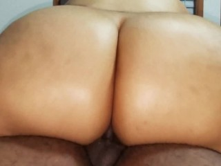 Young Puerto Rican girl never had black dick in her ass before
