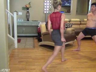 Alison lingerie milf caught blowing sons best friend by hidden cam in garage mom moth