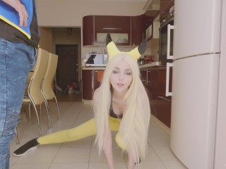 Pokemon. Ash fucks Pikachu in sweet anal and cum inside