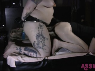Amateur Tits Beach Tattooed Domme Pegs His Ass With A Big Black Cock short version