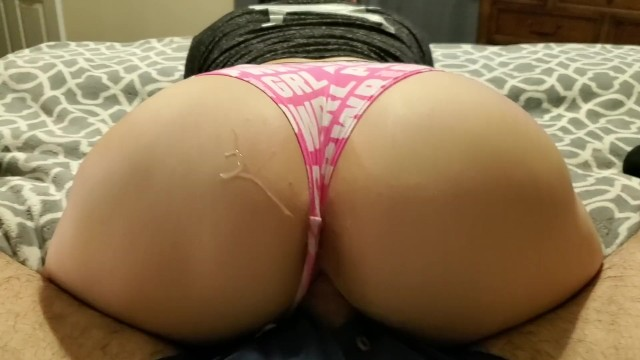 VS PINK MILF Panties to the Side Fucking with Cum