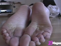 Milky White Redhead Piper Fawn Shows Her Pussy, Tits & Feet!