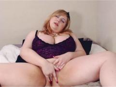 Busty Blonde Dirty Talk Masturbation