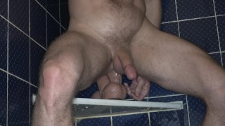 Riding some DOUBLE DICK in the shower