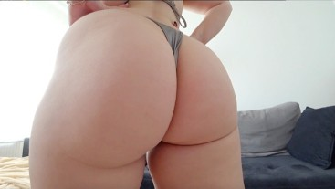 Young girl with big ass gets fucked through panties