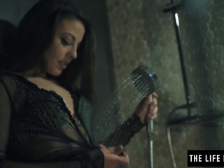 Super model washes away her sins by masturbating in the shower