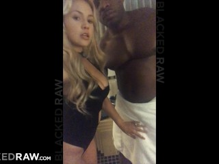 Porno Lookalikes Blackedraw Blonde Girlfriend Cheating At After Party With Black Promoter, Big Dick