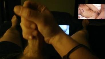 Watching Porn, Dirty Talking and Cumshot