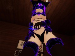 Virtual Lap Dance From Hot Blind Folded Bondage Fox Girl