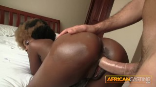 Crazy African Amateur Conquers 9 Inch Cock