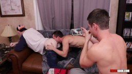 Colby and Mickey Butt Fuck the Pizza Boy RAW