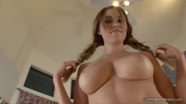 Pigtails boobs Casting busty redhead abgails pigtails and huge firm natural tits