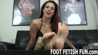 Toe Sucking And POV Femdom Foot Fetish Porn
