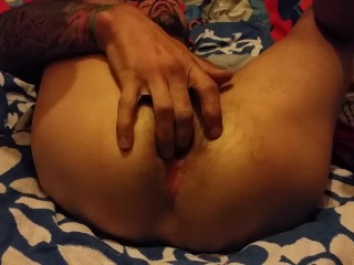 Fucking myself with dildo