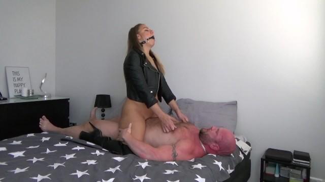 Light bdsm leather lingerie Leather fetish bdsm sex session -dirty julia