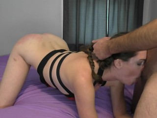 Seducing Amateurs Rough Spanking and Throatfuck Punishment Preview
