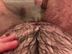 Pregnant FTM Horny Belly Play in Prenatal Herbal Bath - REAL MPREG