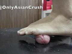Malay flats cock crush and footjob