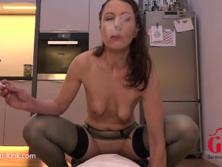 Xnxx Com K Slow Blowjob Swallow Smoke And Fuck In Latex Stockings, Amateur Hardcore Mature Pornstar