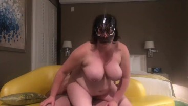 Horny milf rides cock, takes a facial, and then sucks another dick