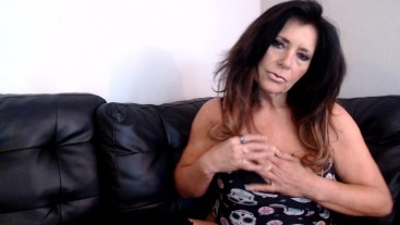 SLUTTY MILF in fishnets JOI with countdown