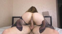 Amateur Teen Step Sis Assjob and Cumshot on her Pantyhose