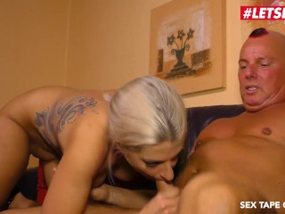 LETSDOEIT – Horny German Blonde Rides Step-Daddy's Cock On Tape