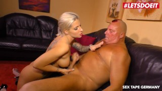 LETSDOEIT - Horny German Blonde Rides Step-Daddy's Cock On Tape