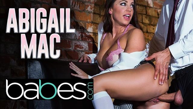 Babes - Big tit bad schoolgirl Abigail Mac seduces her big dick professor