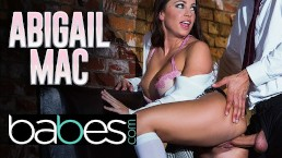 Babes - Big tit bad schoolgirl Abigail Mac seduces her big dick professor