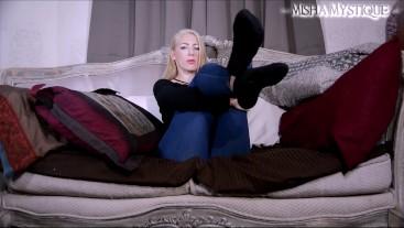 Ankle Socks JOI: femdom pov foot fetish foot worship jerk off instruction