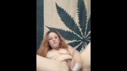 Hot babe strips and sucks and fucks her pink dildo