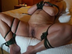 Violate me Hotel Bondage with fisting and anal older sub young Dom