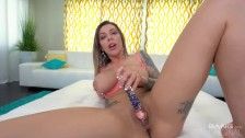 BANG Surprise - karma RX gets an anal creampie and goes ass to mouth