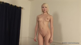 Newbie Ashley Jane Auditions and Strips to reveal her Tight Pussy and Ass