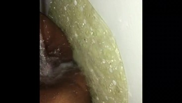Playing with my pussy before I shower. Clit throbbing orgasm