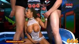 Super Hot MILF Sexy Susi gets her massive tits Piss covered – 666Bukkake