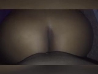 BIG BOOTY BROWNSKIN EBONY TAKES BACKSHOTS AND CUMSHOT❗️