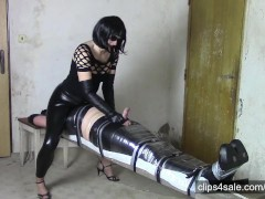 Perfectly immobilized husband, facesitting and milking (SAMPLE)