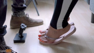 Giantess View of Feet during Sloppy-As-Fuck Blowjob with Cum Rain (Preview)