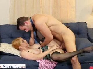 Naughty America – Penny Pax gives her intern a fuck of his life