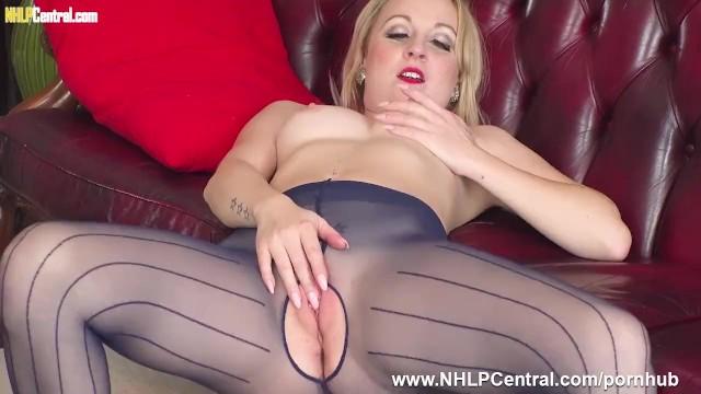 Kiana tom strip video - Perky blonde kiana kraze strips off and wanks in crotchless pantyhose heels