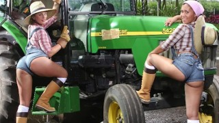 BANGBROS - Big Booty Farmin' Throwback Featuring Isabel Ice & Jordan Ashley