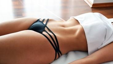 Sensual Belly Massage - Perfect abbs - Camel Toe - Hot Teen