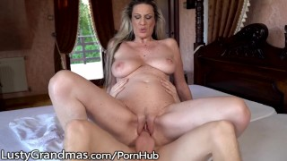 LustyGrandma Big Tits Mature Gets that Good Cock