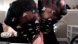 Cute Old Floral Socks - Sock Show!