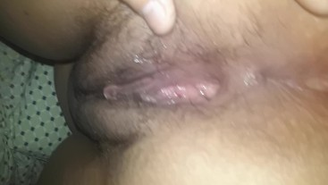 Spreading my asshole and my wet pussy