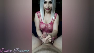 Passionate handjob for big Cuban dick part 2